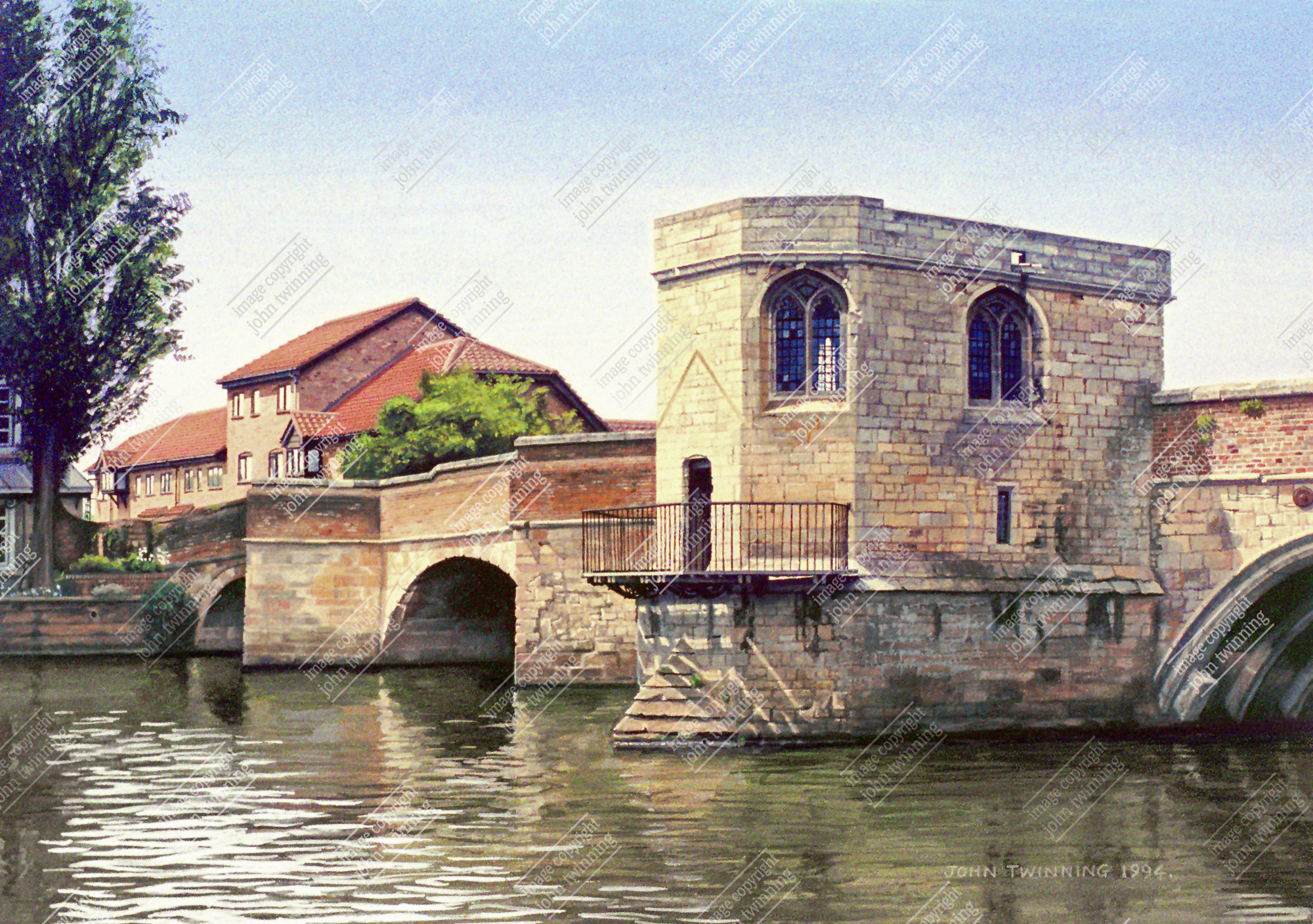St. Ives bridge and chapel (painting)