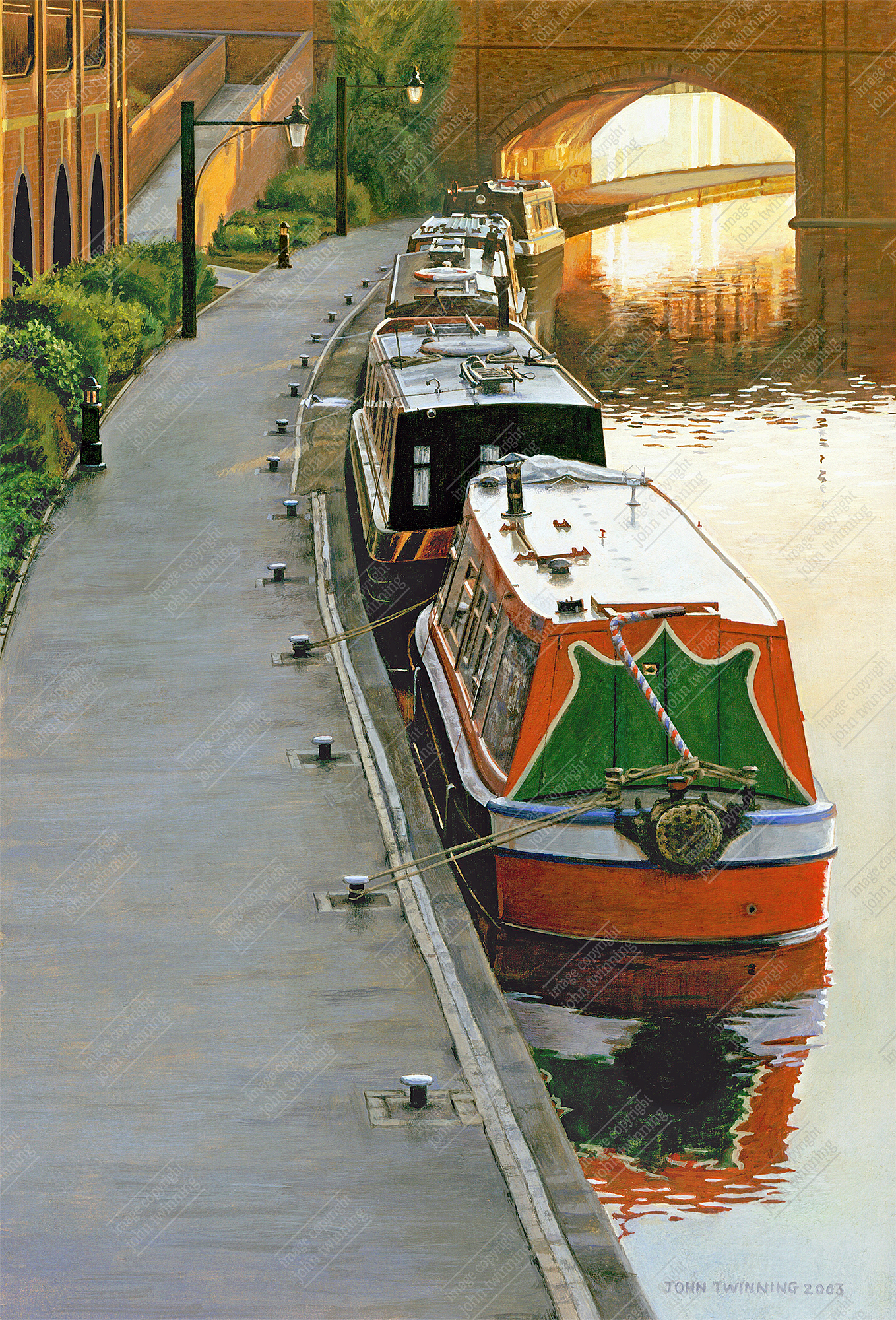 Canal boats at rest, Sheepcote Street
