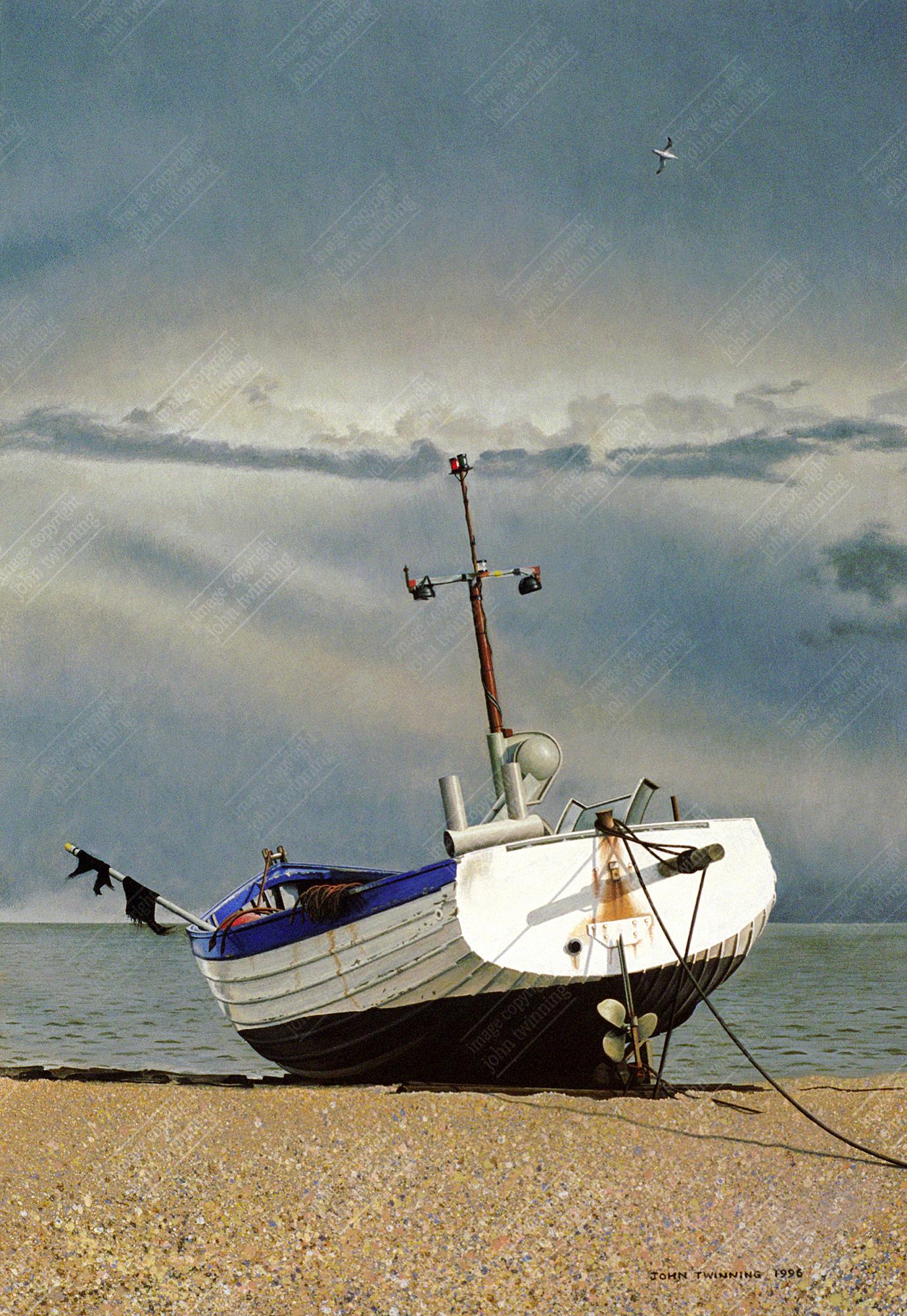 Fishing boat, study II, Aldeburgh, Suffolk