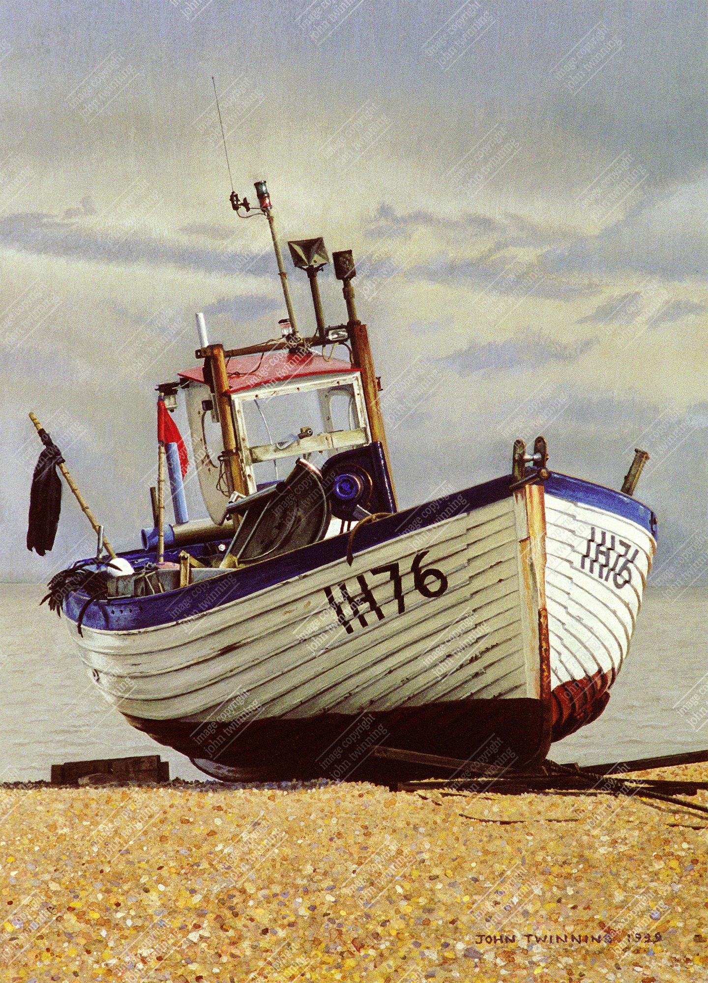 Fishing boat, study III, Aldeburgh, Suffolk