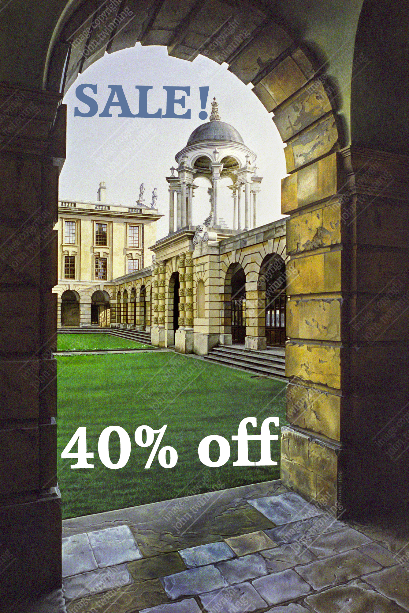 40% off! The Queen's College: front quad & cupola