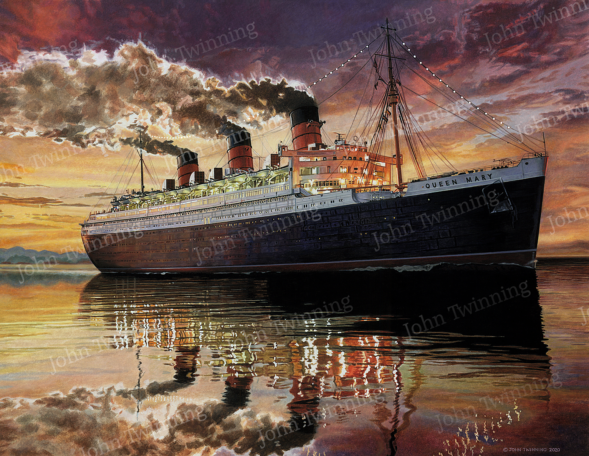 RMS Queen Mary, Sunset Sailing
