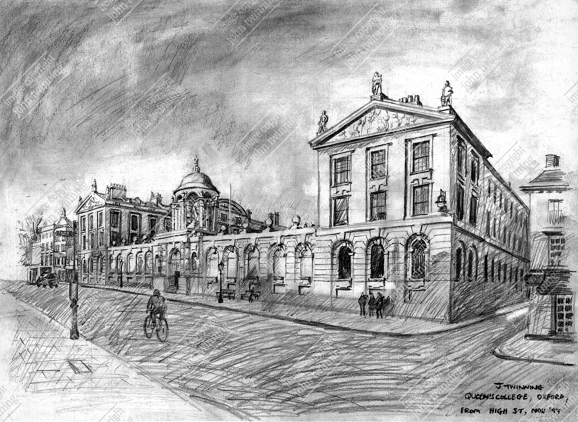 15% off! Queen's College: view from the High Street