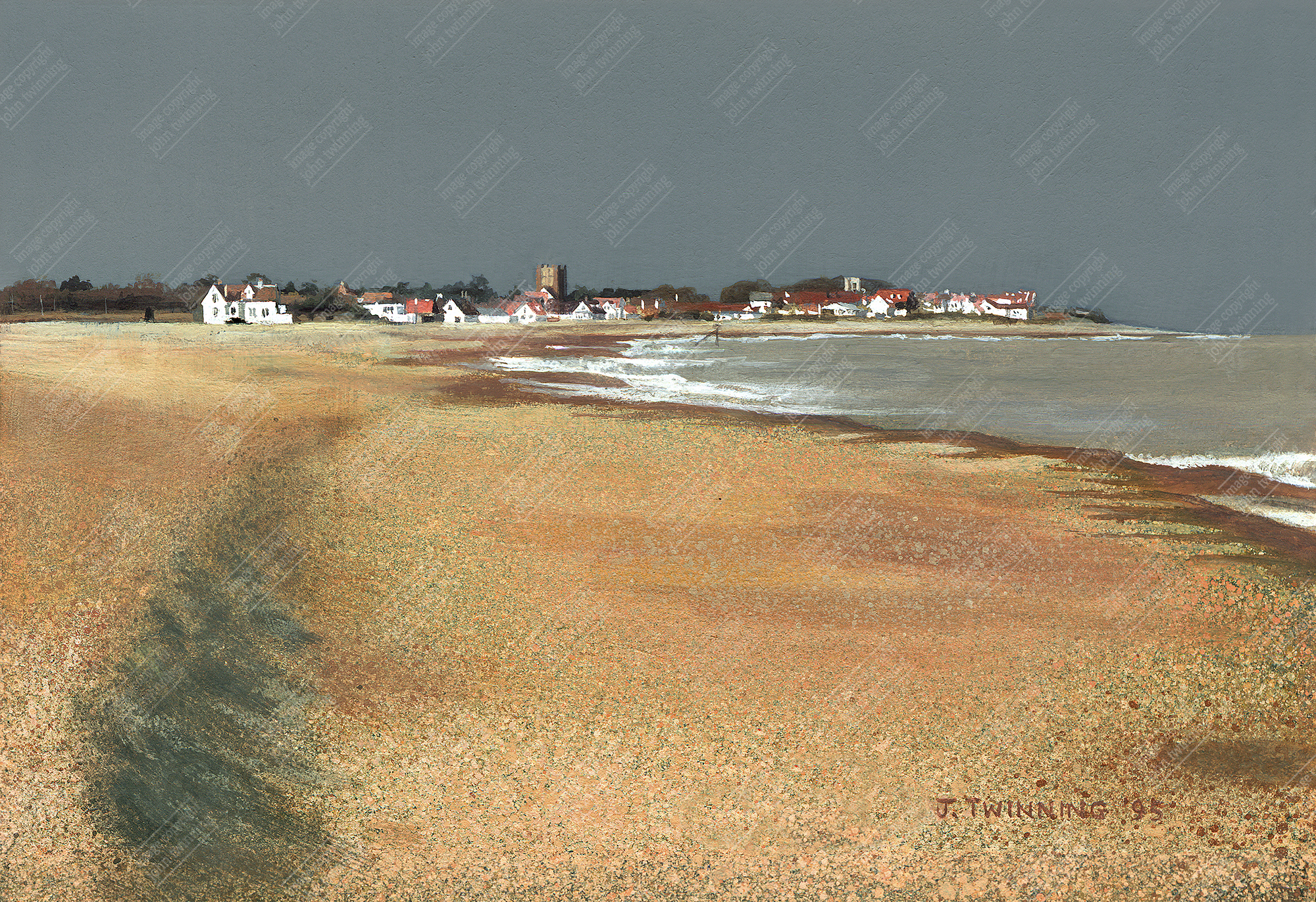 Towards Thorpeness, passing storm